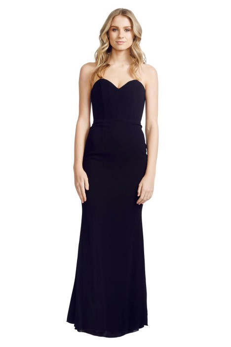 Alex Perry - Louise Gown - Front - Black