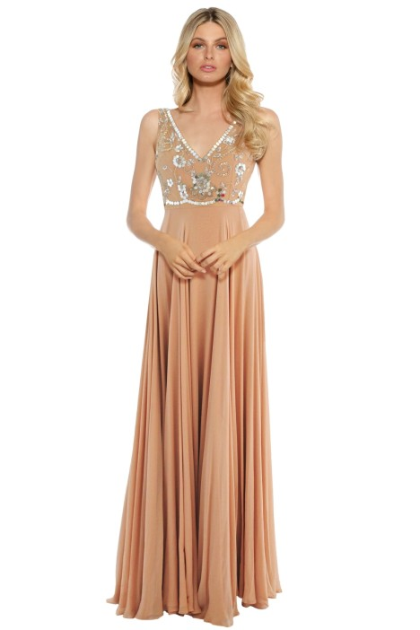 Alex Perry - Luna Gown - Pink - Front