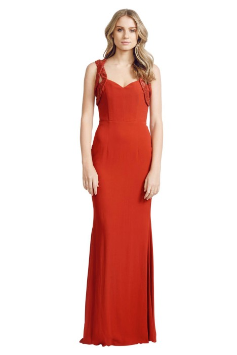 Alex Perry - Nadia Gown - Front - Red