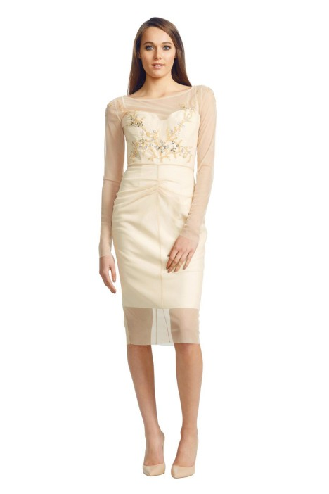 Alex Perry - Tiara Dress - Gold - Front