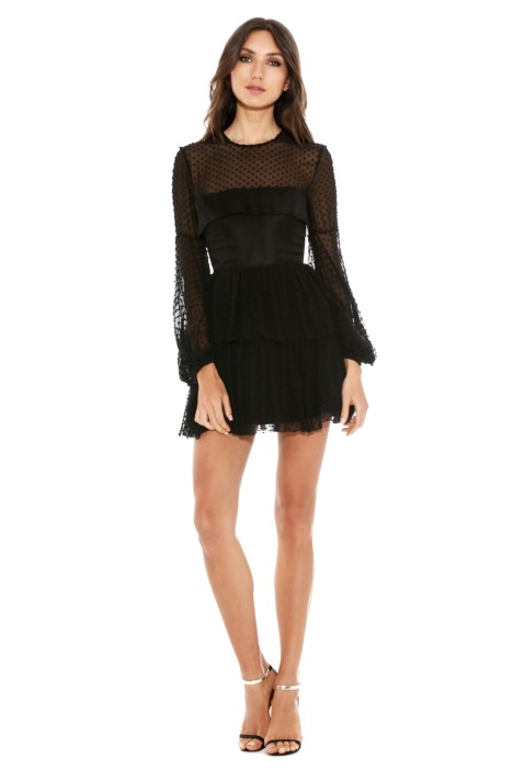 80b4ca9dfd5 Alex Perry - Valerie Silk Cotton Mini Dress - Black - Front