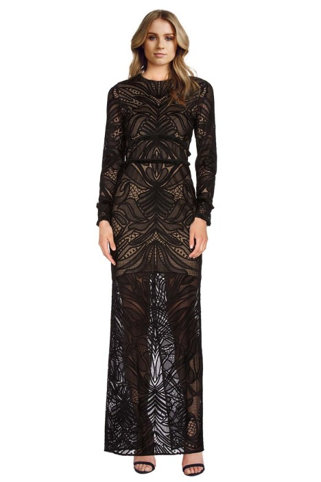 Alexis - Kassidy Fringe Lace Dress - Front