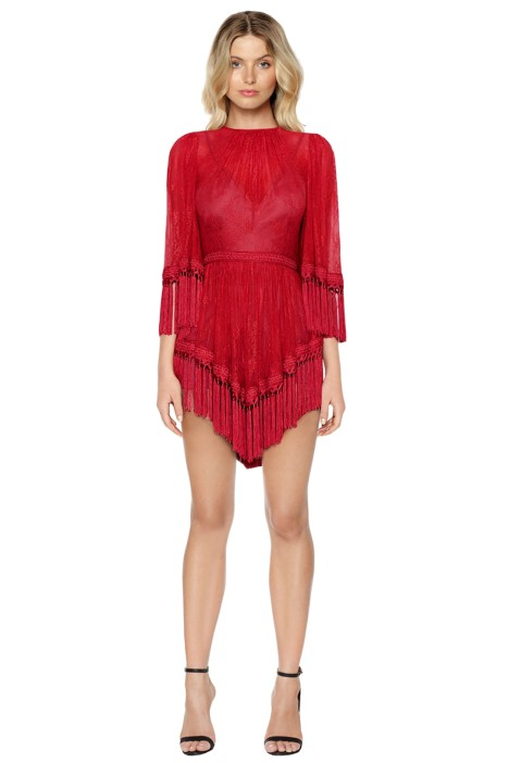 Alice McCall - Are You Ready Girl Mini Dress - Red - Front