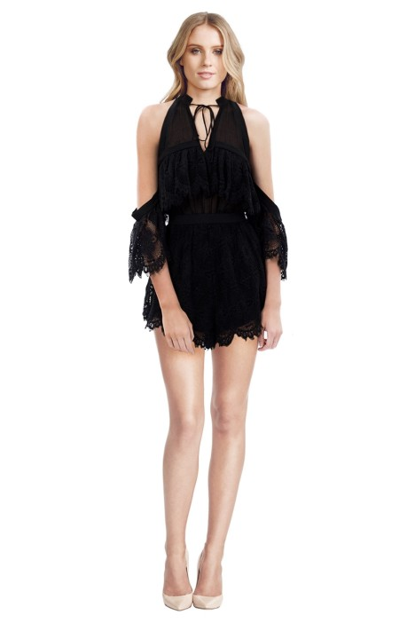 Alice McCall - Better be Good Playsuit - Black - Front