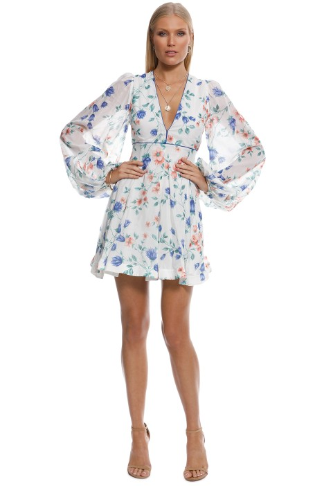 Alice McCall - Bluebell Dress - White Multi - Front