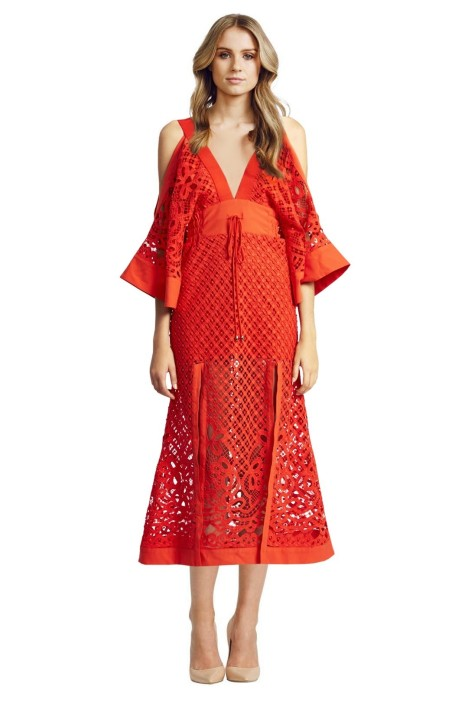 Alice McCall - Break my Love Dress - Red - Front