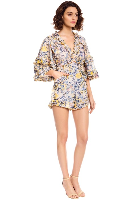 ed1f88fae2 Alice McCall - Choose Me Playsuit - Gold Bloom - Side