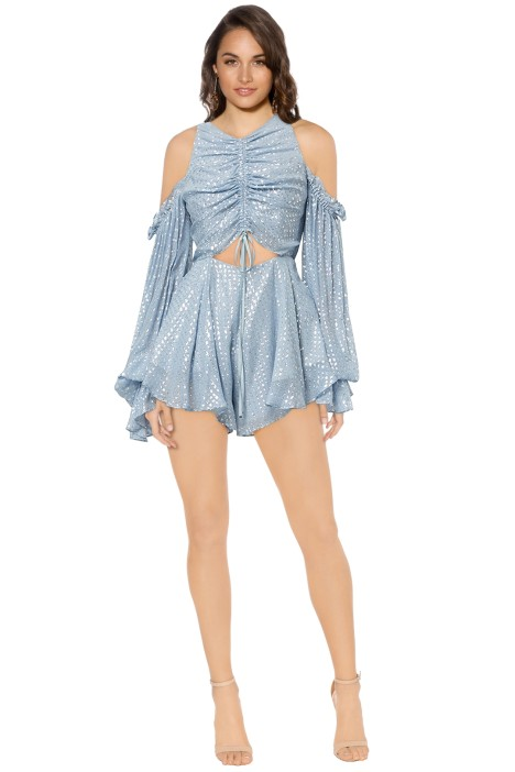 Alice McCall - Did It Again Playsuit - Pebble Blue - Front