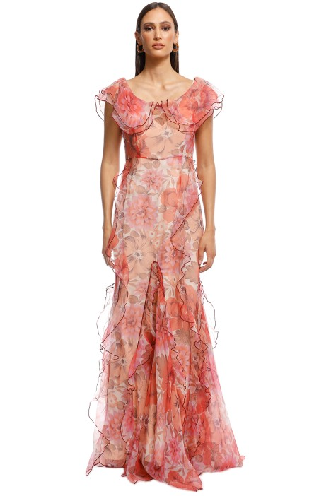 Alice McCall - Flora Gown - Scarlet Red - Front