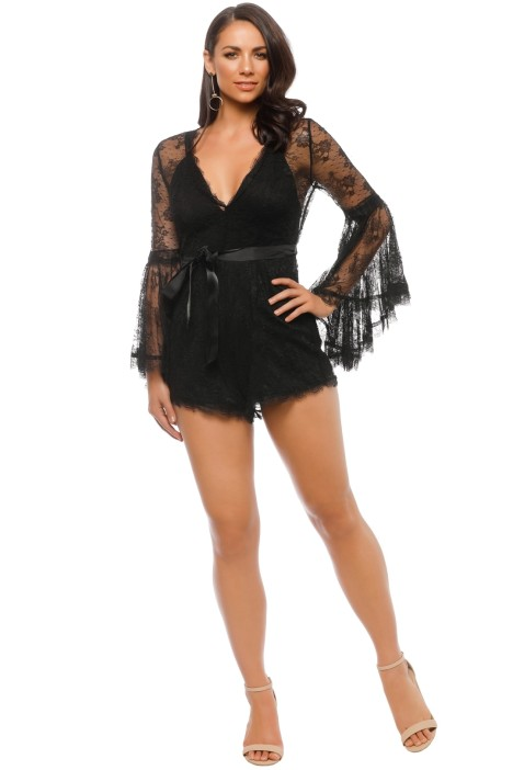 56f008532a Gemini Playsuit in Black by Alice McCall for Rent