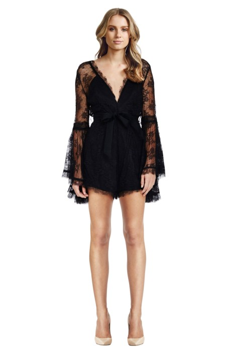 Alice McCall - Gemini Playsuit Black - Front