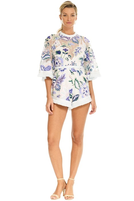 Alice McCall - Georgie Boy Playsuit - White Thistle - Front
