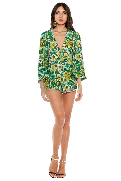 Alice McCall - J'Adore Playsuit - Forest - Front