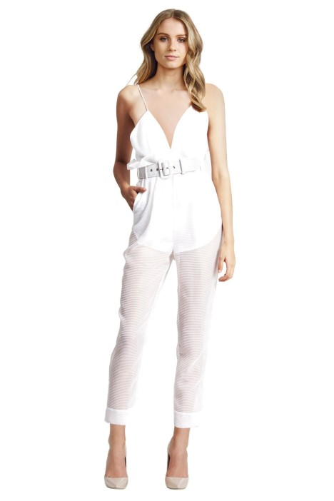 Alice McCall - Justify My Love Jumpsuit - White - Front