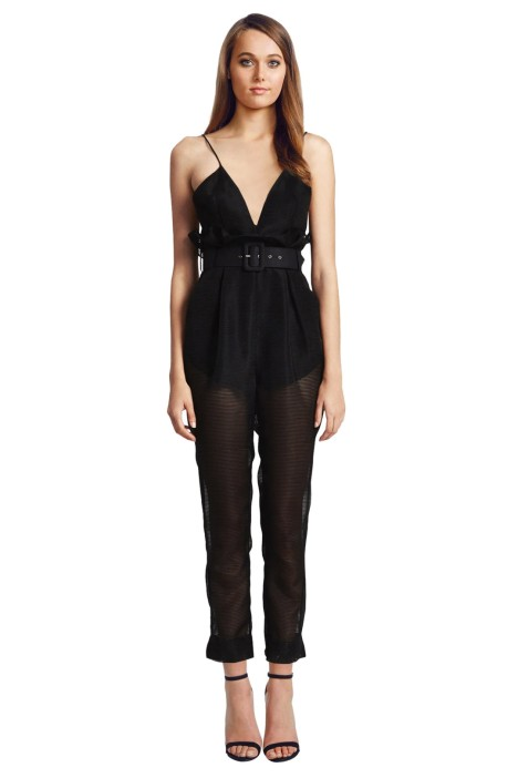 Alice McCall - Justify My Love Jumpsuit - Black - Front