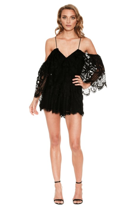 f93fc912c7 Lucy In The Sky Playsuit in Black by Alice McCall for Hire