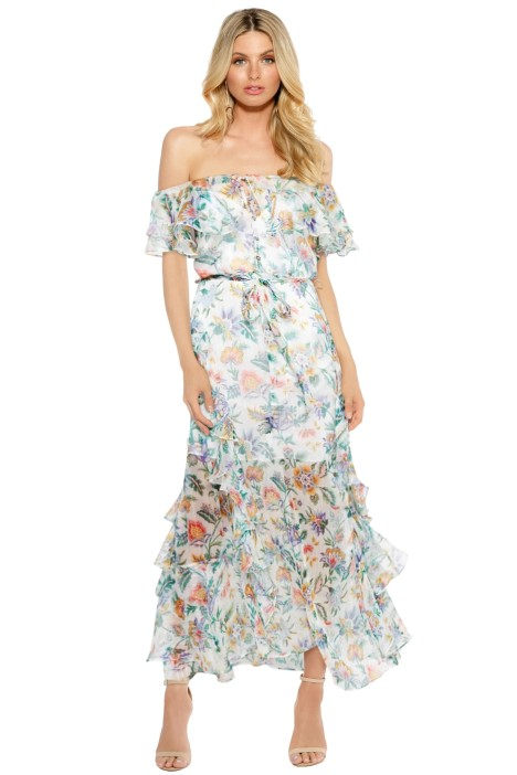 Alice McCall - Oh Oh Oh Maxi Dress - Ivory Garden - Floral Print - Front