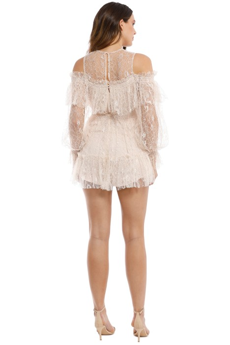 5156dfbed12 One In A Million Playsuit in Nude by Alice McCall for Rent