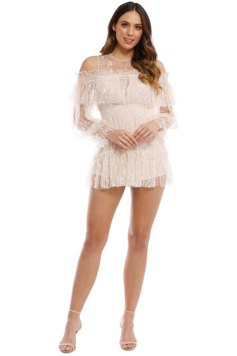 39b322d8e8 One In A Million Playsuit in Nude by Alice McCall for Rent