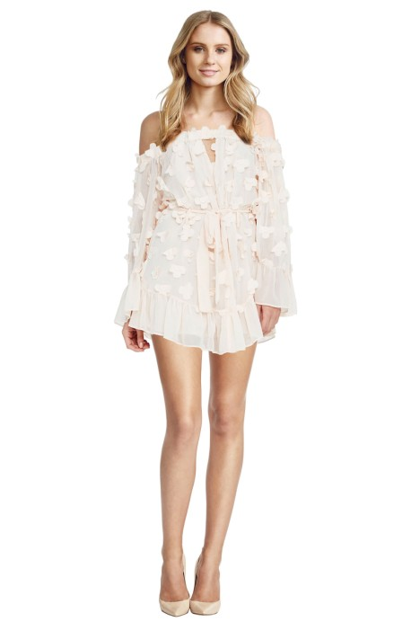 Alice McCall - Pastime Paradise Playsuit Shell Pink - Front