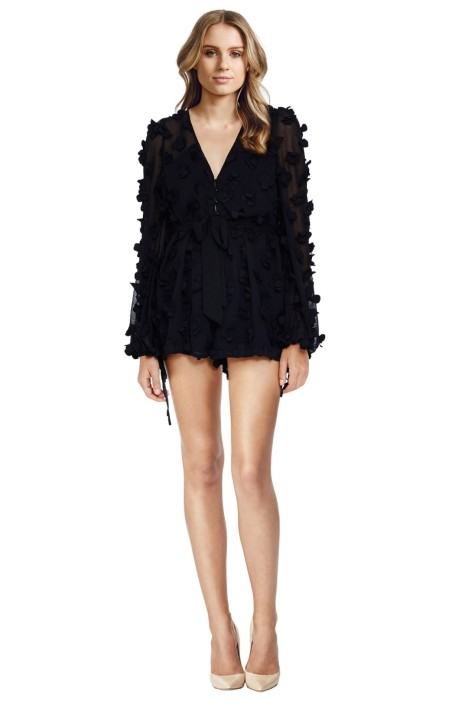 Alice McCall - Wild Flowers Playsuit - Black - Front