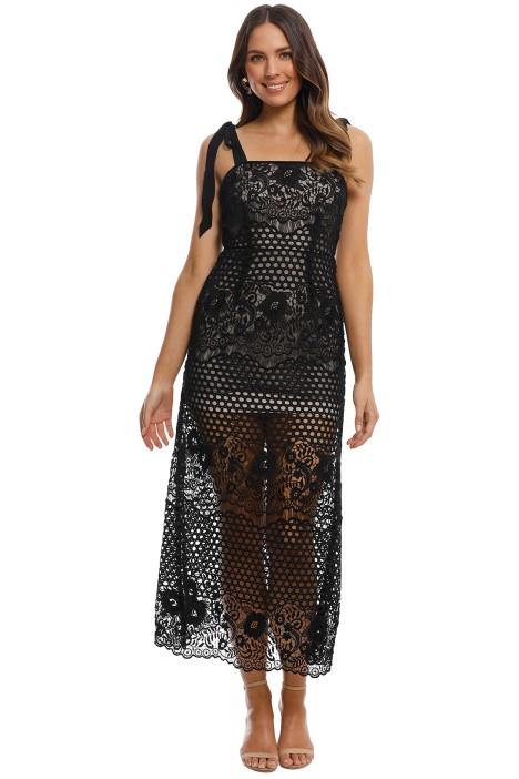Alice McCall - Secret Lover Dress in Black - Front
