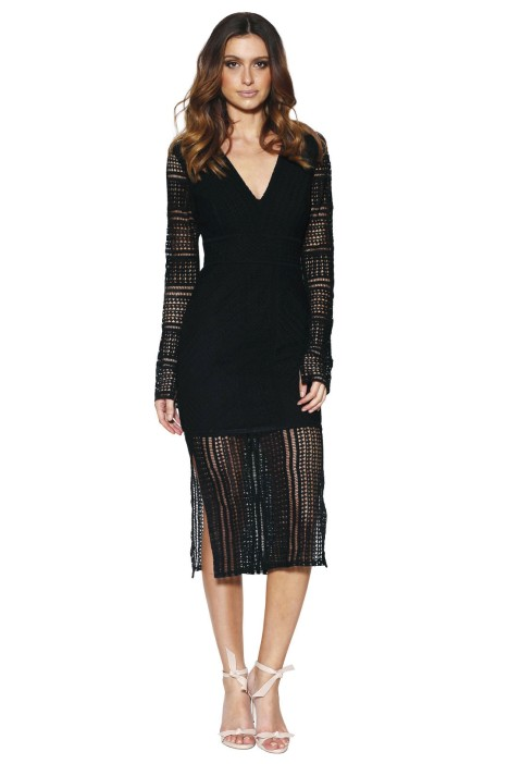 Grace & Hart - Allure Fitted Dress - Black - Front