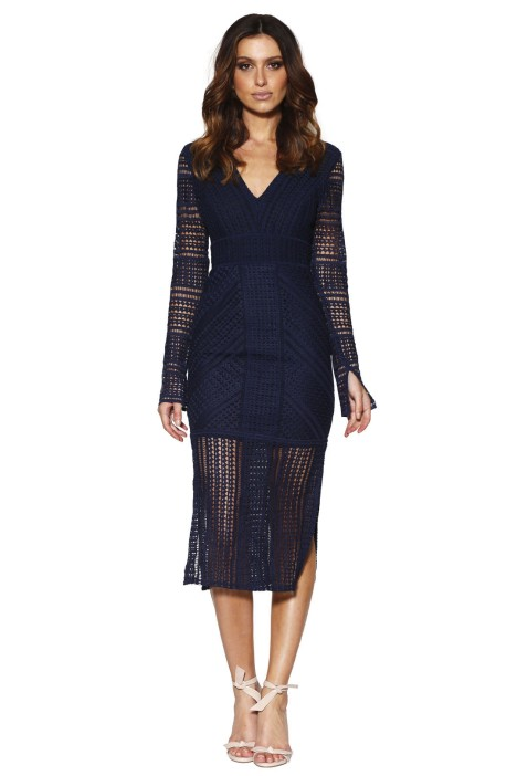 Grace & Hart - Allure Fitted Dress - Navy - Front