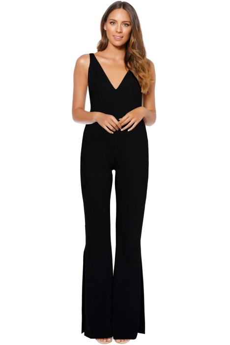 Amanda Uprichard - Norwood Jumpsuit - Black - Front