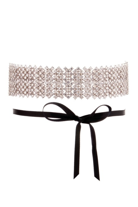 Amber Sceats - Grand Miley Choker - Silver Black - Front