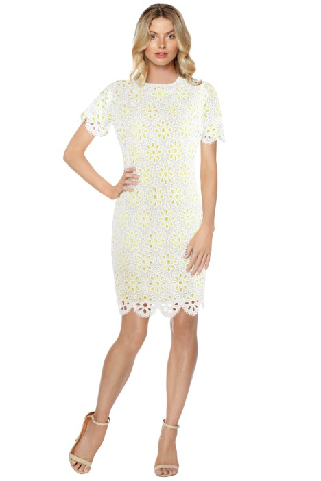 Anna Scholz - Daisy Lace Tunic Dress - White - Front