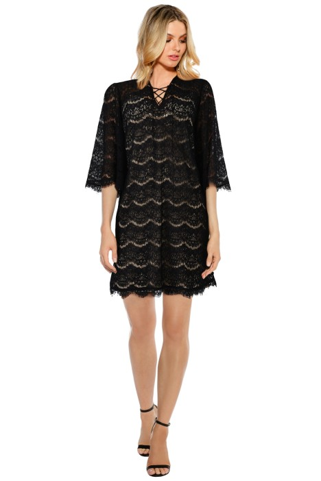 Anna Scholz - Eyelash Lace Up Tunic - Black - Front