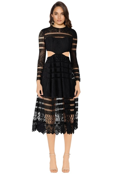 Asilio - A Cut Above Love Dress - Black - Front
