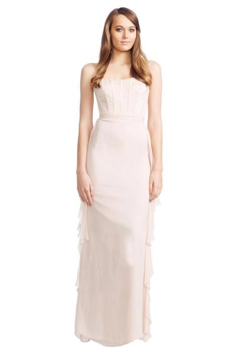 Badgley Mischka - Corset Dress - Blush Pink - Front