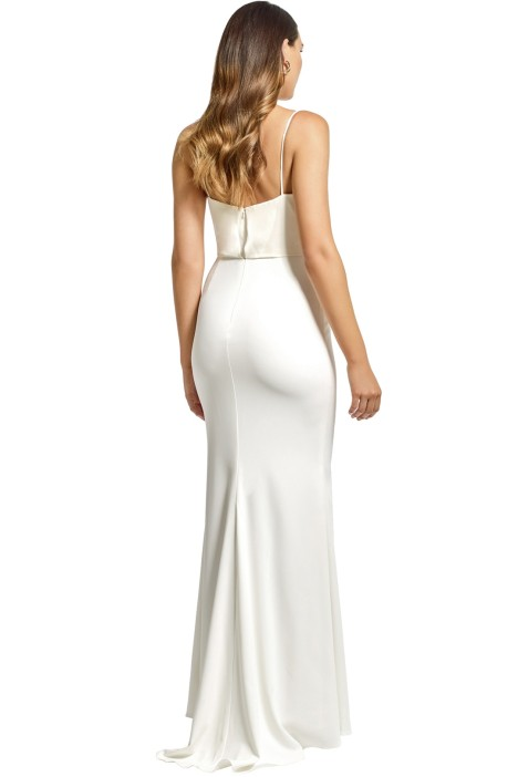 Draped Top Crepe Skirt by Badgley Mischka for Rent