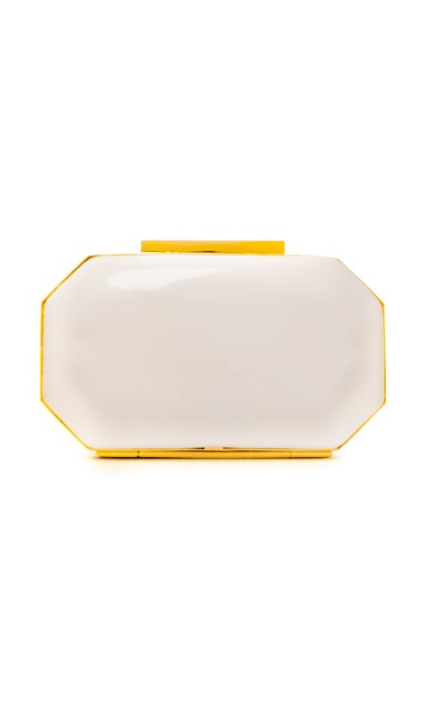 Badgley Mischka - Jane Clutch - Front - White