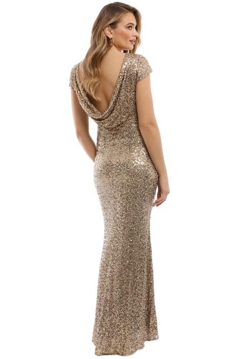 Gold Sequin Gown by Badgley Mischka for Rent | GlamCorner