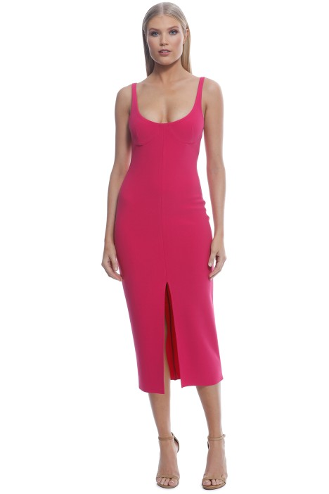 6ce22f56ad4d Amelie Cup Midi Dress in Magenta Bec and Bridge for Hire | GlamCorner