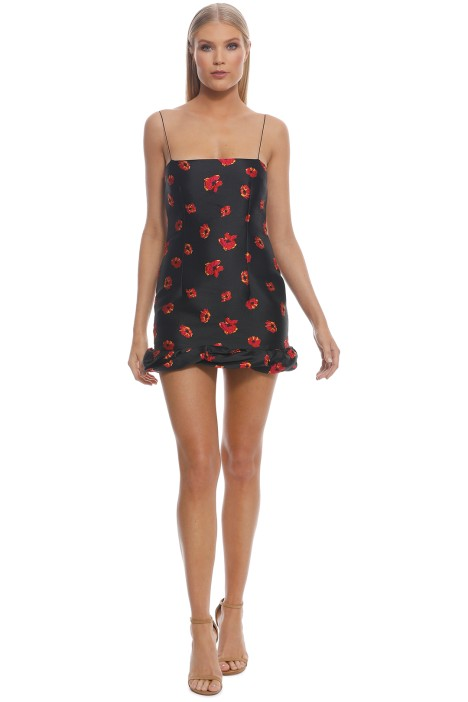 Bec and Bridge - Coco Cabana Mini Dress - Black Floral - Front