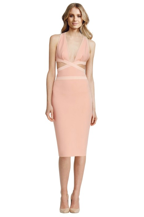 Bec and Bridge - Pandora Dress Apricot - Blush - Front