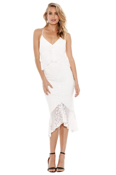 Bec & Bridge - Marvel Lace Midi Dress - Ivory - Front