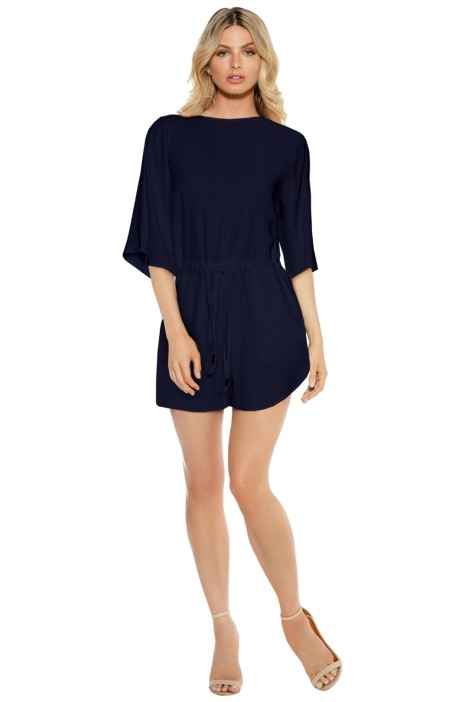 Bec & Bridge - Nomadic Playsuit - Navy - Front
