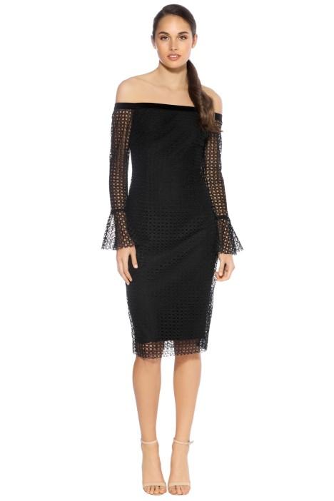 Bec & Bridge - Zinnia Off Shoulder Dress - Black - Front