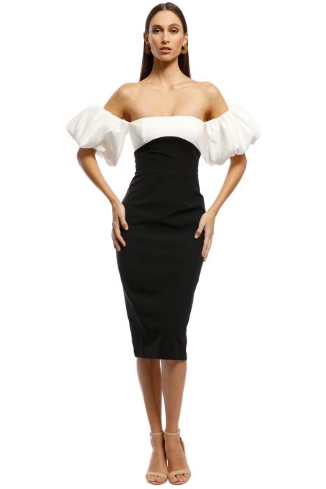 Bianca and Bridgett - Alexa Dress - Black/White - Front