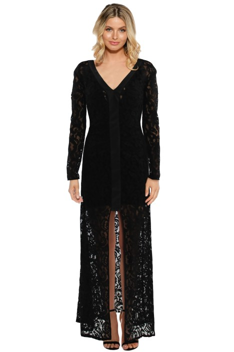 Bianca Spender - Persephone Gown - Black - Front