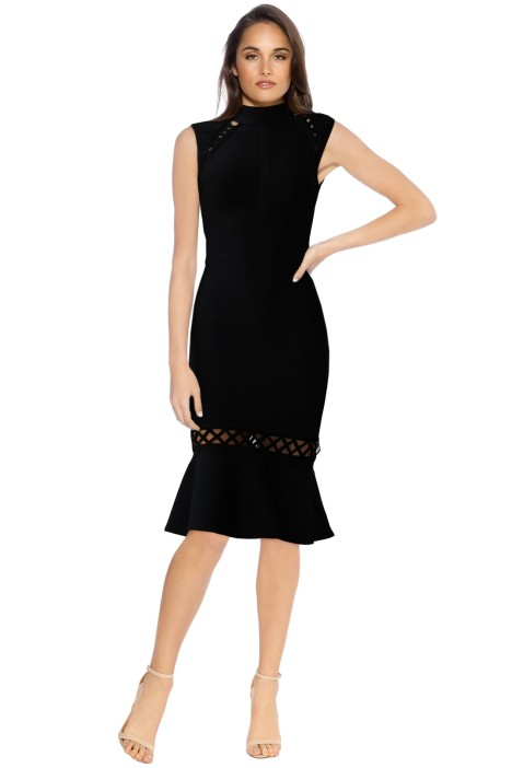 Bless'ed Are The Meek - Rose Dress - Black - Front