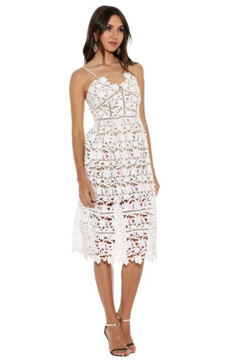 Bronx and Banco - White Florence Midi Dress - White - Front