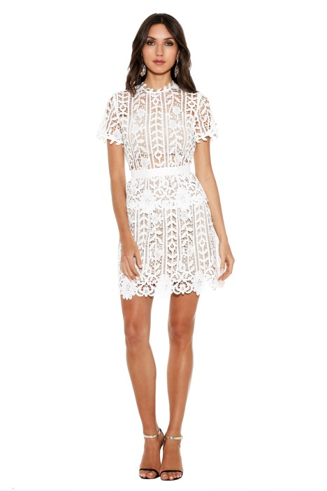 Bronx and Banco - White Positano Dress - Front
