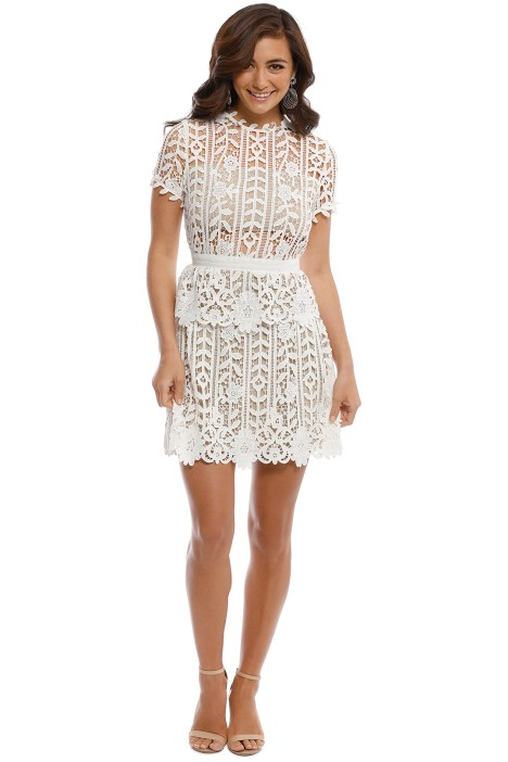 Bronx and Banco - White Positano Dress - White - Front