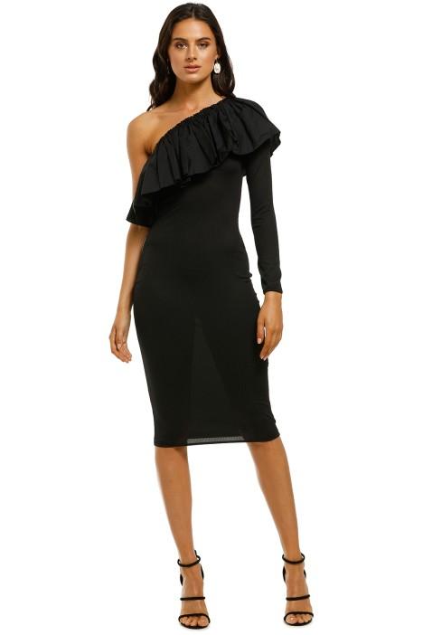 By-Johnny-Cotton-Frill-Shoulder-Dress-Black-Front